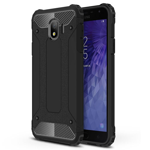 Military Defender Shockproof Case for Samsung Galaxy J4 - Black